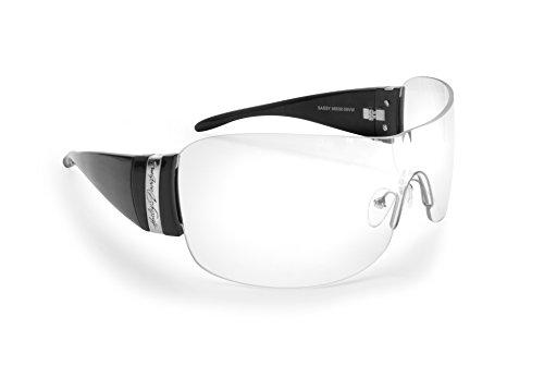 Harley-Davidson Motorradbrille - Made in Italy - Bruchsicherer Gläser - cod. Sassy2 - Enhanced Protection Case