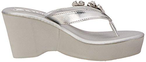 Nina Baleri Synthetik Keilabsätze Sandale Silver