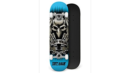 Tony Hawk Profi Skateboard Komplettboard Hawk Head Blue 7.75 inch - Special Edition mit KOSTON Kugellagern