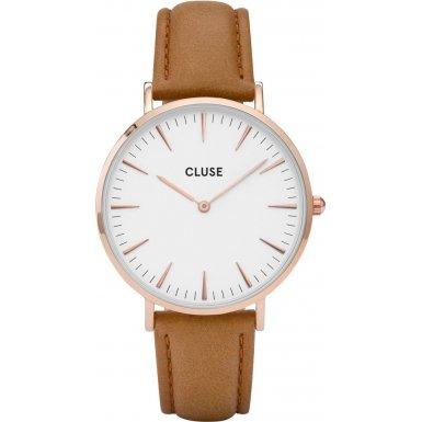 Cluse-Damen-Armbanduhr-Analog-Quarz-Leder-CL18011