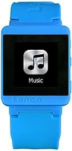 Lenco MP3 Sportwatch-100 MP3 8Go Bleu - lecteurs et enregistreurs MP3/MP4 (Lecteur MP3, Bleu, IPX4, Lecteur flash, 8 Go, TFT)