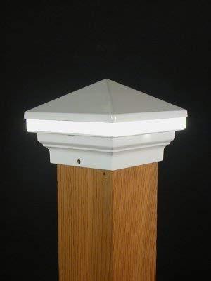 Iris Anello 12V Deck Licht, 10,2cm Post, Weiß - Post-low-voltage-deck