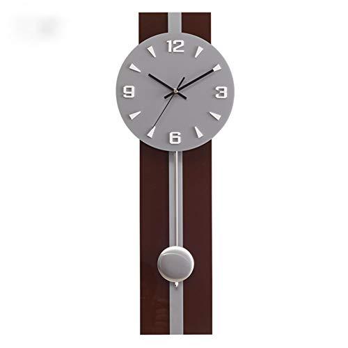 MUZIDP Horloge Murale avec balancier,Office Salon Decoration Mural Horloge Art,Moderne Silencieuse Clair pour Lire Horloge Verre-A 9inch