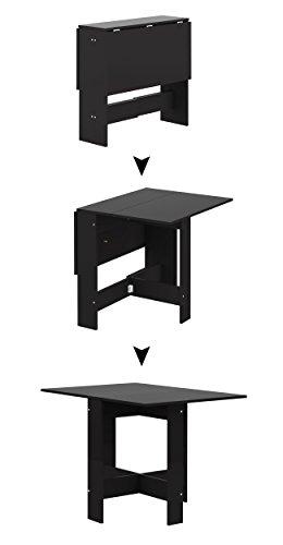 Symbiosis 2050A7676X00 Table Pliante Panneaux de Particules Melamines Noir 103 x 76 x 73, 4 cm