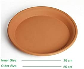 Minerva Naturals 12 Inch Bottom Tray Terracotta Color (Set Of 5) ,Brown