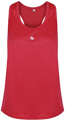 Candish Ladies Gym Vest R1PL3Y Sports Tank Top Womens Fitness Running Racer Back Gym Vest