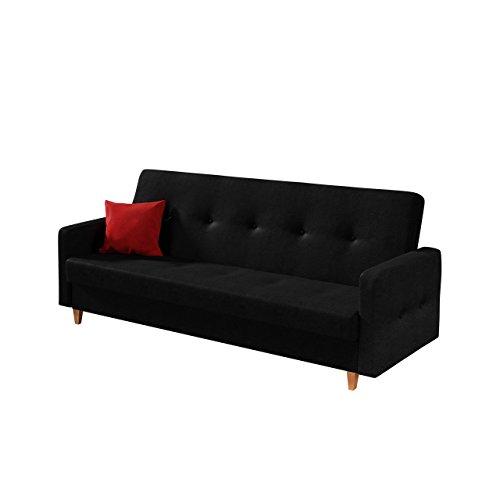 Design Schlafsofa Tango, Sofa mit Bettkasten und Schlaffunktion, Modernes Bettsofa, Schlafcouch, feiner Webstoff, Wohnlandschaft