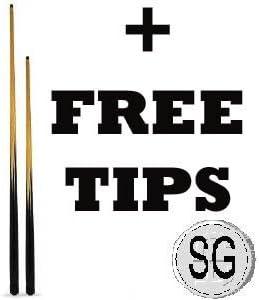 SGL - Juego de tacos de billar (1 de 91,4cm y 1 de 122cm, ideal para niños)