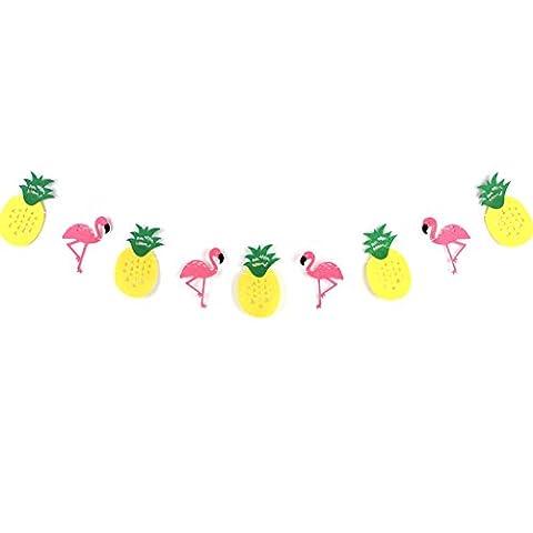 Summer Party Flamingo Ananas Guirlande Papier Chambre Summer Party Decoration (Ananas)
