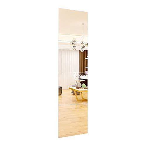 M-YN Wandspiegel, Rechteckige Schlafzimmer Badezimmer Frameless Wandspiegel, Rasierspiegel - Ganzkörperspiegel - Rasierspiegel, Badezimmer Dekoration - 4 Splicing (Size : 22cm*4)