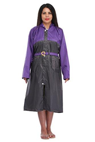 ELLIS Women's Polyester Purple Raincoat/Rainsuit / Rainwear