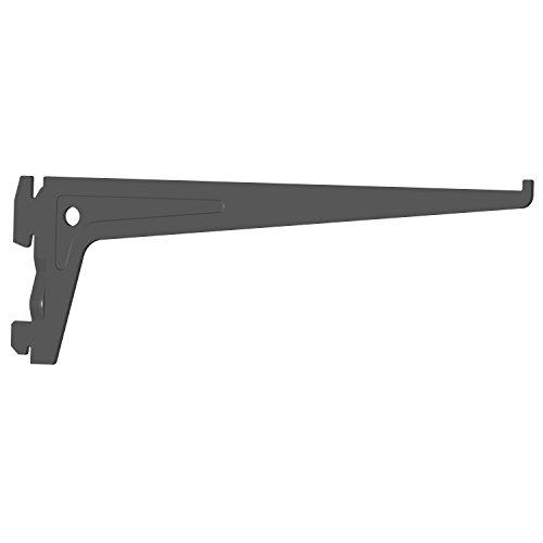 Preisvergleich Produktbild Element System 18133-00007 PRO-Träger Regalträger 1-reihig / 2 Stück / 7 Abmessungen / 3 Farben / L = 25 cm / schwarz / für Regalsystem / Wandschiene