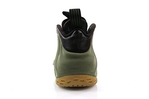 Nike Air Foamposite One Prm, Chaussures de Sport-Basketball Homme Multicolore - Verde / Blanco / Marrón / Negro (Mdm Olv / Lght Bn-Vlvt Brwn-Blk)