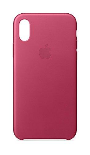 Apple iPhone X Lederhülle, Fuchsienpink