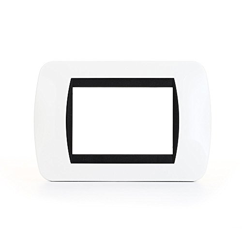 Bticino L4803PB Livinglight Placca Interruttore, 3M, Bianco