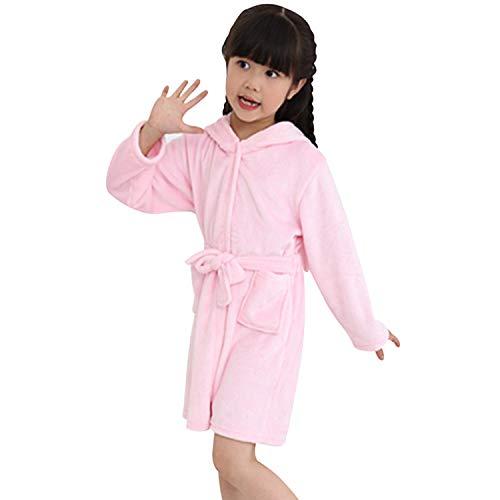 chicolife Kinder Handtuch Strand - Baby - Bademantel Tier - Rosa - Kaninchen mit Kapuze Bademantel für Jungen - Mädchen - Pyjamas Nightgown Kinder Sleepwearrobe - 4t-kapuzen-handtuch