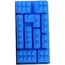Cubitera de silicona con diseño de bloques de juguete