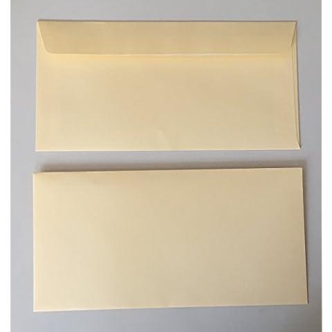 25buste per lettere, camoscio, bianco crema, formato