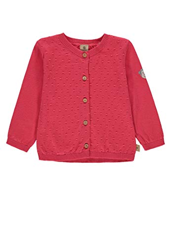 Bellybutton mother nature & me Baby-Mädchen 1/1 Arm Strickjacke, Rot (Rouge Red 2108), (Herstellergröße: 86) -