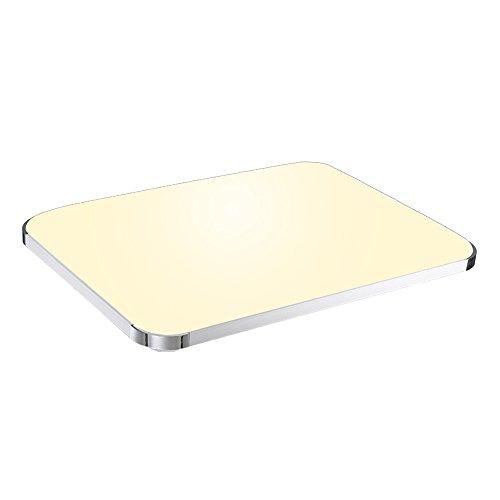 VINGO® LED Eckig Deckenleuchte Moderne Deckenlampe Flur Wohnzimmer Lampe Schlafzimmer 48W Warmweiß -