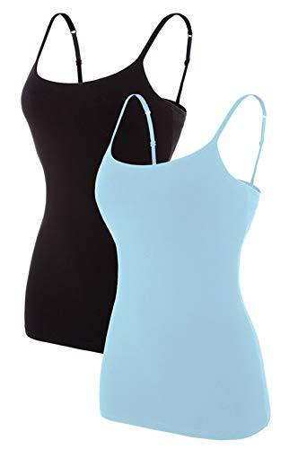 BeautyIn Camisole mit Eingebauter BH Wohlfühl Unterhemden Basic Spaghettiträger ohne Bügel XL