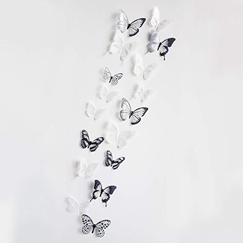 Macxy – Crystal 18pcs 3D Papillons DIY Stickers muraux de Meubles pour la Chambre des Enfants de Noël décoration du Parti Cuisine réfrigérateur en Vinyle [1]