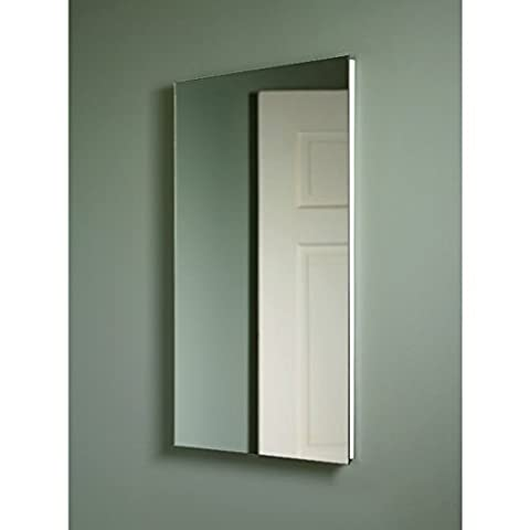 Broan NuTone 1035P24WHG Cove Single-Door Recessed Mount Frameless Medicine Cabinet, 14 by 24-Inch by Nutone