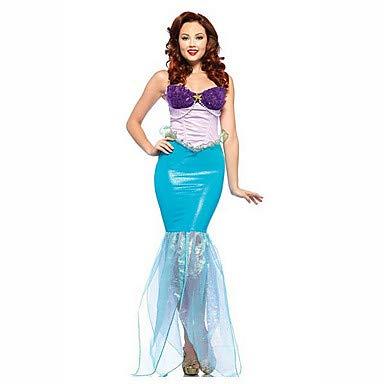HAOBAO Meerjungfrau Märchen Fest/Feiertage Halloween Kostüme Purpur Blau einfarbig KleidHalloween Weihnachten Karneval Kindertag Silvester (Meerjungfrau Märchen Kostüm)