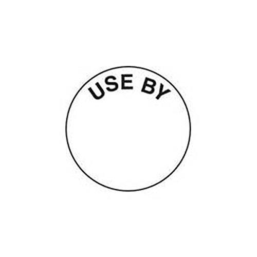 Blanc Circle 'Utilisation par' étiquette amovible 25 mm/1 (rouleau de 1000) anniversaire