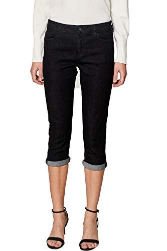 edc by ESPRIT Damen 039CC1B031 Straight Jeans, Schwarz (Black Rinse 910), W30 (Herstellergröße: 30)