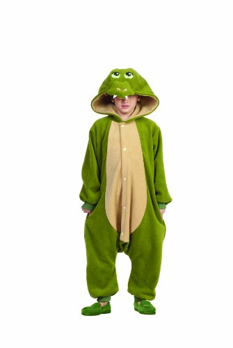 Funsies Kigurumi Ness Dragon Fleece Jumpsuit Costume Child Toddler Large 12-14