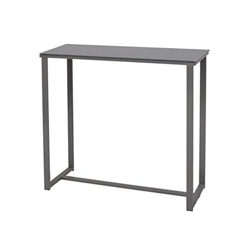 More Design MOUSE-CONSOLE-GR Konsole, pulverbeschichtetes Metall/vorgespanntes Glas, grau 80 x 30 x 75 cm