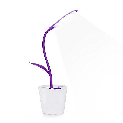 Schreibtischlampe Tischleuchte Augenschutz, 1W 3 Helligkeitsstufen dimmbar, Berührungsempfindlich, Flexibel Leselampe (Purple) ()