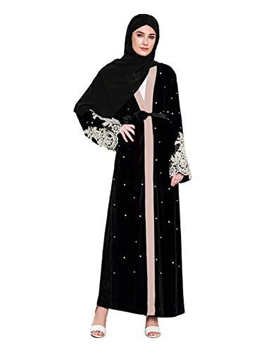 TAAMBAB Vestido Encaje Abaya Musulmán Mujer - Abrigo