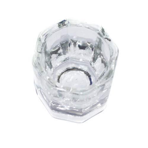 Vektenxi Achteckige Form Glasbecher für Acylic Nail Art flüssiges Pulver langlebig und praktisch