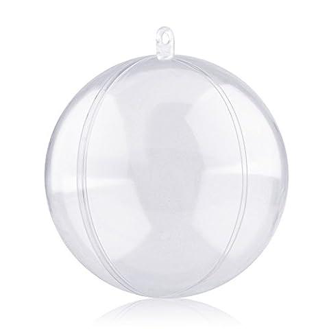 Boule Transparente à remplir Lot de 20, Boules de noël