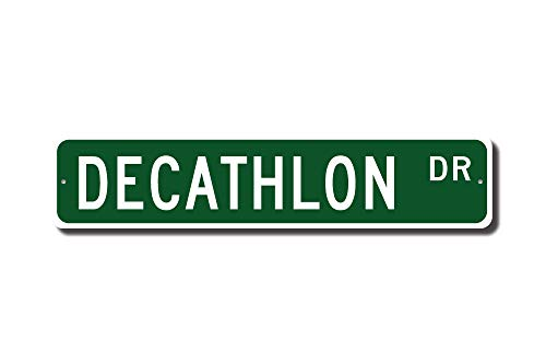 C-US-lmf379581 Decathlon Decathlon Sign Decathlon Fan Decathlon Gift Ten Track & Field Events Track Star Gift Custom Street Sign Quality Metal Sign - Star Street Sign