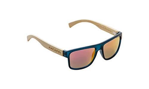 NOBLEND Bambus Freizeit Sonnenbrille aus Bambus. UV400 Schutz - Polarisiert - Blau/Orange oder Grün Verspiegelt! Unisex für Sie und Ihn - Qualität & Lebensgefühl - ORANGE