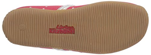 Living Kitzbühel - Pantoffel Sterne & Blume, Pantofole Donna Rosso (Rot (345 koralle))