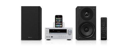 Pioneer X-HM50-S Kompaktanlage (CD/MP3-Player, FM mit RDS, Apple iPod Dock,100 Watt, USB 2.0) silber - Mit Iphone-dock Cd-player