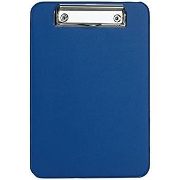 Alco DIN A5 Klemmbrett Schreibbrett Clopboard Blau Rot Schwarz