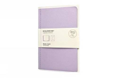Moleskine Nachrichten Notizkarte Pocket, Kartoneinband flieder (Pocket Note Card)
