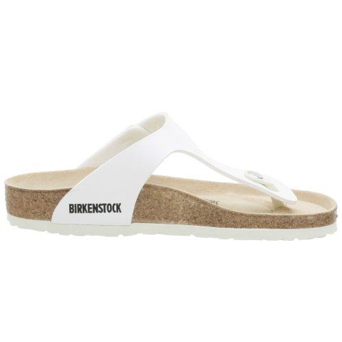 Birkenstock Classic Gizeh Birko-Flor Unisex-Erwachsene Zehentrenner White