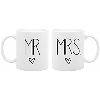 loQuenn Tazze da caffè Regali San Valentino per Girlfriend/Boyfriend Mugs-mr Mr And Mrs And Mrs, Regali per Coppie