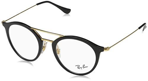 Ray-Ban Unisex-Erwachsene Brillengestell 0rx 7097 2000 49, Schwarz (Shiny Black)