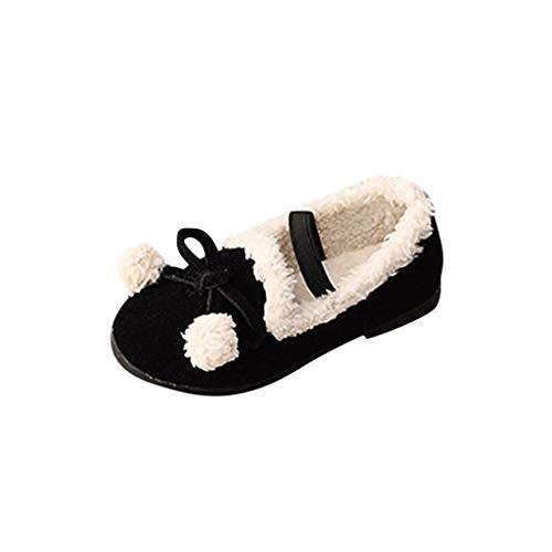Vovotrade_scarpa per Neonate Inverno Caldo Bowknot Shallow Elastic Princess Scarpe da Ginnastica Corte per Bambini Piccoli Pelle Scamosciata e Mocassini Caldi