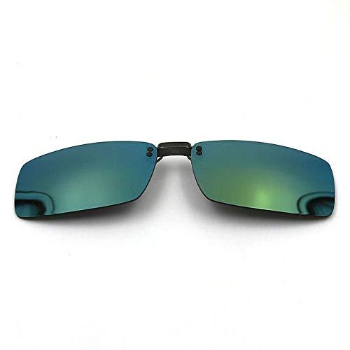 Polarisierte Myopie - Sonnenbrille Clips für Männer und Frauen Fahren Spiegel Sonnenbrille Anti-Glare Anti-Glare - Clips Bunte Serie 708 dunkelblau, gelb - Wafer