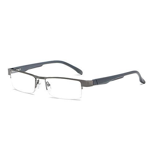 GEMSeven Männer Frauen Metall Halbrahmen Lesebrille Business Unzerbrechlich Presbyopische Brillen