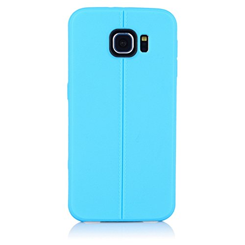 """ImagineDesign(TM) Premium Textured """"Stitch Line Collection"""" Matte Finish Back Case Cover For SAMSUNG GALAXY S6 (Misty Sky Blue)"""
