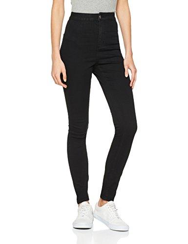 Noisy may Damen NMELLA SUPER HW GU304 NOOS Slim Jeans, Schwarz (Black), 42 /L32 (Herstellergröße: XL)